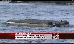 pontoon boats in rough water pontoon boat in new jersey carrying seven capsizes leaving