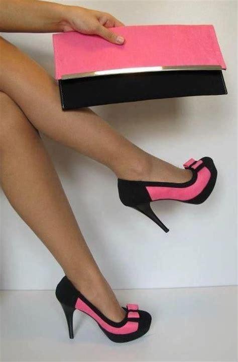 Black Pink High Heels Shoes black and pink high heels my high heel shoe favorites
