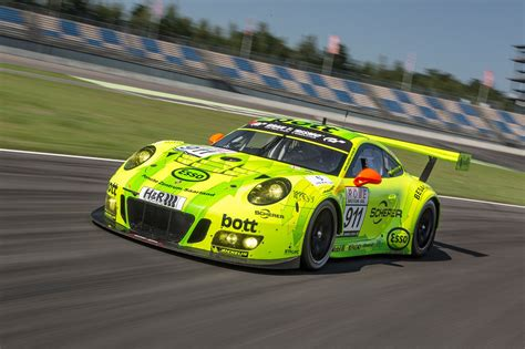 porsche race car porsche 911 gt3 r race car front three quarter in motion