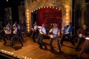 stage with a mop hey you boys what are you doing with my mop water the scottsboro boys speakeasy