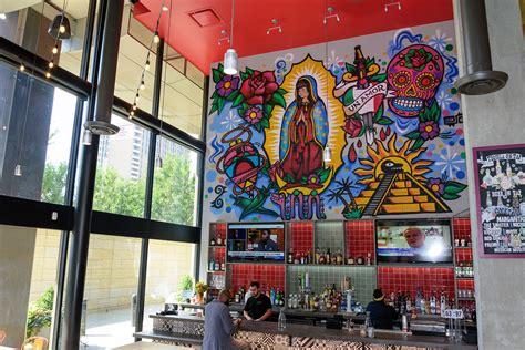 graffiti spray paint mural  la dama restaurant  nyc