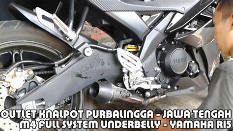 Knalpot Yamaha R15 M4 Fullsiste knalpot yamaha r15 system underbelly m4 titan