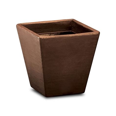 Square Planters by Jardin 14in Tapered Square Planter Vintage Copper