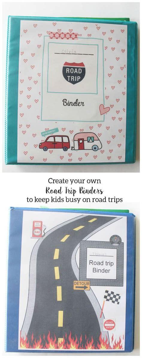 Printable Road Trip Binder | road trip binder trips kid and roads
