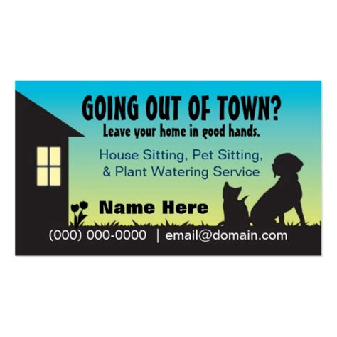 house and dog sitting 3 000 pet sitting business cards and pet sitting business card templates zazzle