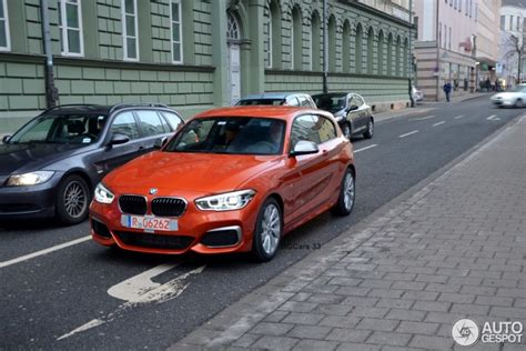 Bmw 1er Farben 2015 by Bmw M135i Facelift 2015 Erste Live Fotos In Valencia Orange