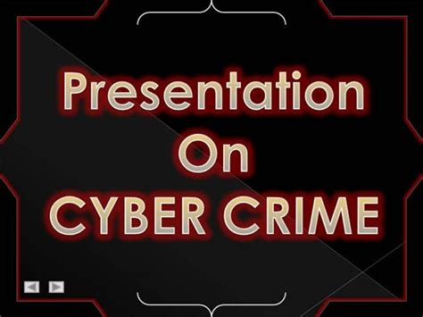 Cyber Crime Authorstream Cyber Crime Ppt Templates Free