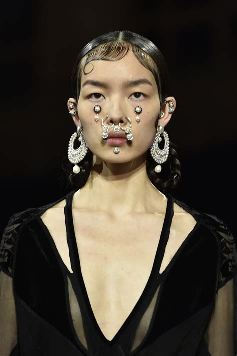 male fashion models with pierced ears the wildest beauty looks from the fall 2015 shows photos