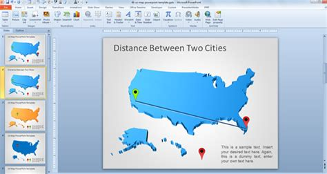us map distance between cities awesome free usa map outline for powerpoint presentations