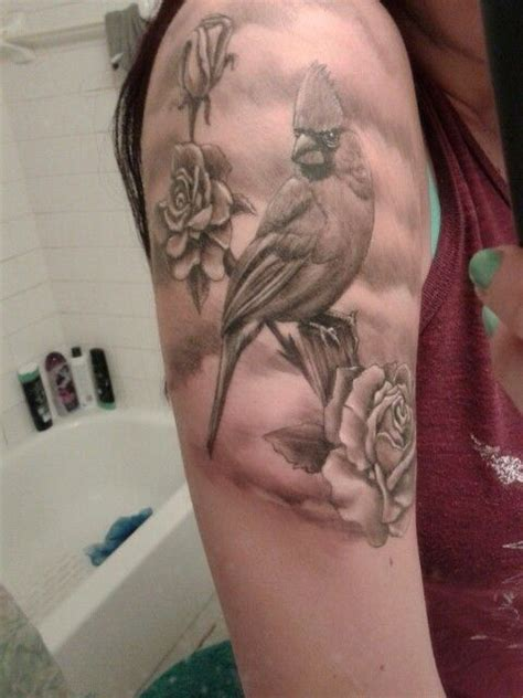 cardinal rose tattoo cardinal i tattooidea roses