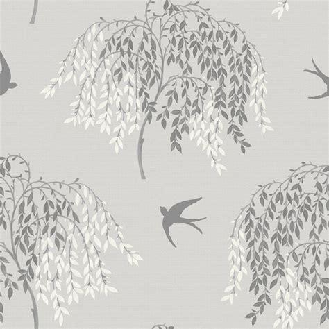 wallpaper tree design uk arthouse imagine willow song wallpaper 664700 grey