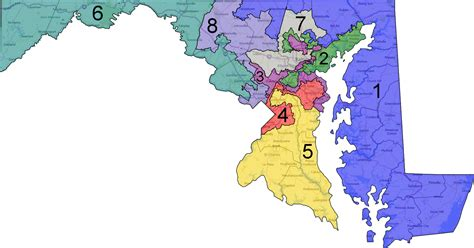 maryland map congressional districts no maryland is not the most gerrymandered state there is