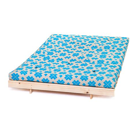 Turquoise Bed Frame Block Cross Turquoise 4ft 125cm Futon Frame Mattress 2 Seater Sofa Bed