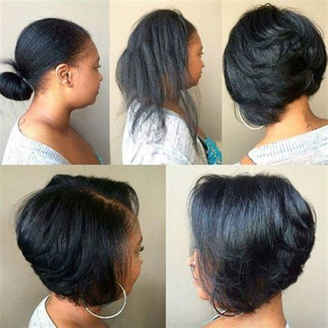 how to cut black hair in a bob cute hair cut hair tips hair care pinterest hair