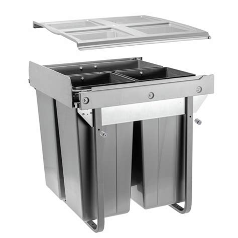 poubelle de cuisine tri s駘ectif 3 bacs poubelle coulissante tri s 233 lectif 3 bacs 68 litres