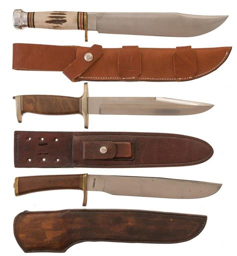 american bowie knife three american bowie knives with sheaths