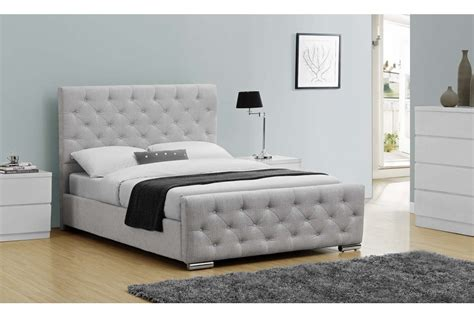 grey fabric bed buckingham fabric upholstered bed grey double