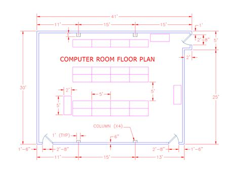 computer room floor plan computer room graph draw the design build academy