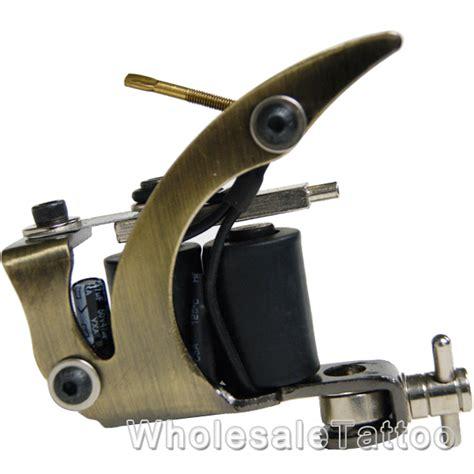 tattoo machine basics basic tattoo machine plain brass w 8 wrap coils