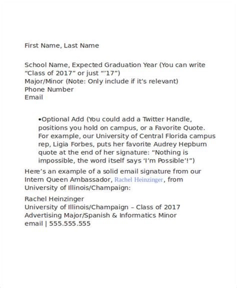 formal email format for university formal e mail signature free premium templates