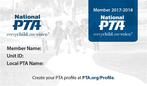 membership card template doc your pta membership card join national pta