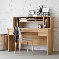bureau en teck meuble informatique en bois massif