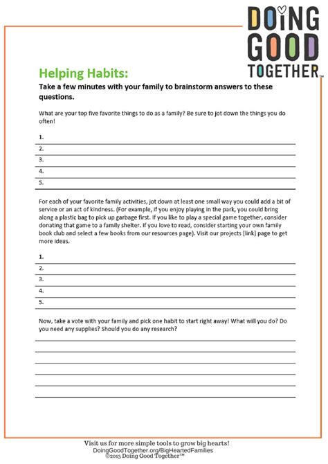 Kindness Worksheets by 4 Elements Of A Kindness Practice Doing Together