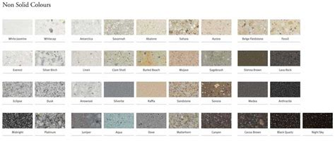 corian farbpalette corian high tech surface colour palette evolution e