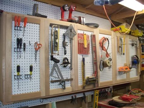 Garage Cabinets With Pegboard Pdf Pegboard Storage Cabinet Plans Free