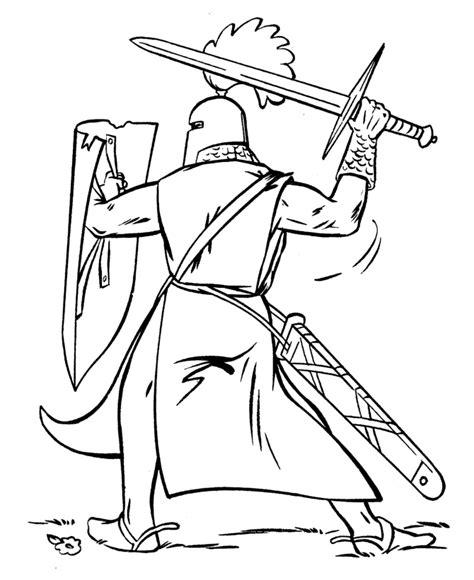 coloring pages of fighting knights medieval coloring pages to download and print for free