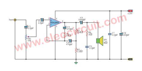 Ic Tda2003 Ic Tda 2003 Aj02 hi fi audio lifier by ic tda2003 electronic projects circuits