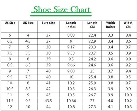 shoes size uk shoes size chart india vs uk style guru fashion glitz