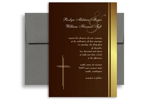 mass card template nuptial mass catholic personalized wedding invitation 5x7