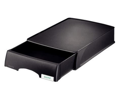 Letter Tray With Drawer leitz plus drawer unit letter tray black ebuyer