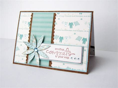 Baby Handmade Cards - baby boy congratulations handmade card baby shower card