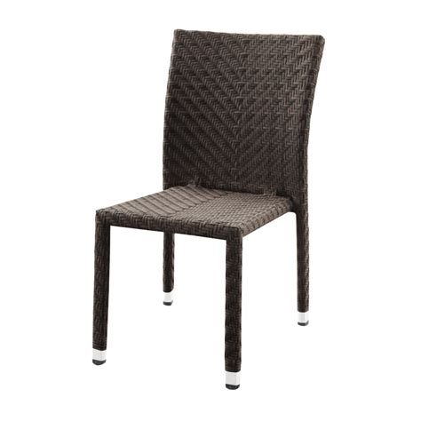 outdoor resin wicker miami side chair bar restaurant