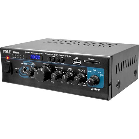 Power Lifier Usb pyle pro 2 channel 120w stereo power lifier with usb ptau55