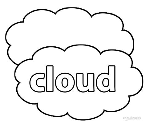 Printable Cloud Coloring Pages For Kids Cool2bkids Cloud Coloring Page