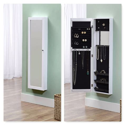 door mount jewelry armoire jewelry armoire mirror storage cabinet organizer wall door