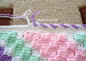 dinah crochet c2c baby blanket edging ch 6 skip 1