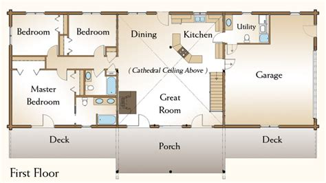 3 bedroom log cabin floor plans 3 bedroom bath log cabin floor plans