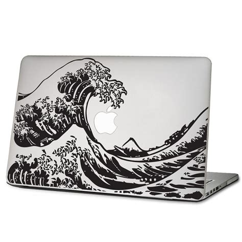 Promo Apple Mac Book 13 Decal Wave macbook computer stickers kamos sticker