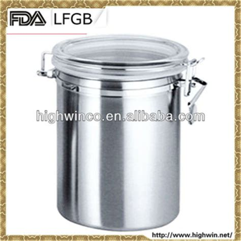 fda lfgb stainless steel unique kitchen canisters set