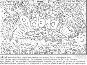my coloring journal names of god amp encouragements