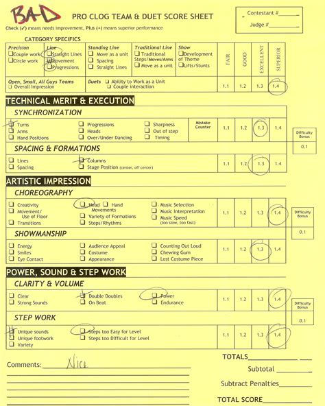 Gymnastics Judges Score Card Template by Top High School Cheer Score Sheets Images For