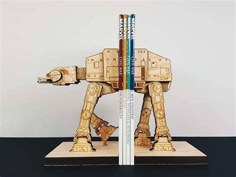 Handmade Wooden Bookends - handmade wars at at wooden bookends gadgetsin