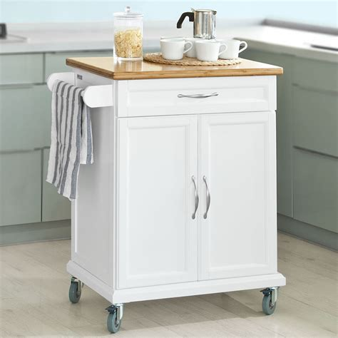 Kitchen Storage Carts Cabinets Sobuy Kitchen Cabinet Kitchen Storage Trolley Cart With Bamboo Top Fkw13 Wn Uk Ebay