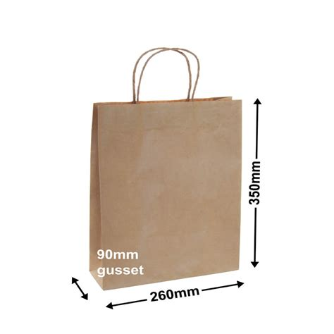 How To Make A Paper Bag From A4 Paper - brown paper carry bag 350mm x 260mm a4 size qis packaging