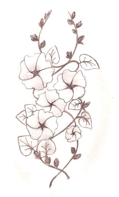 hollyhock tattoo designs hollyhocks drawing search inked