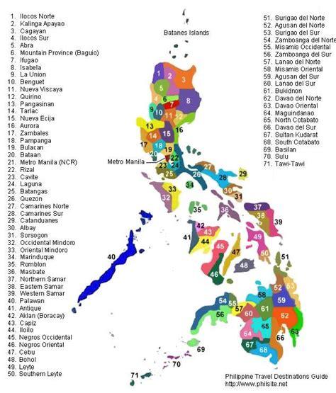 philippine map philippinen karte provinzen
